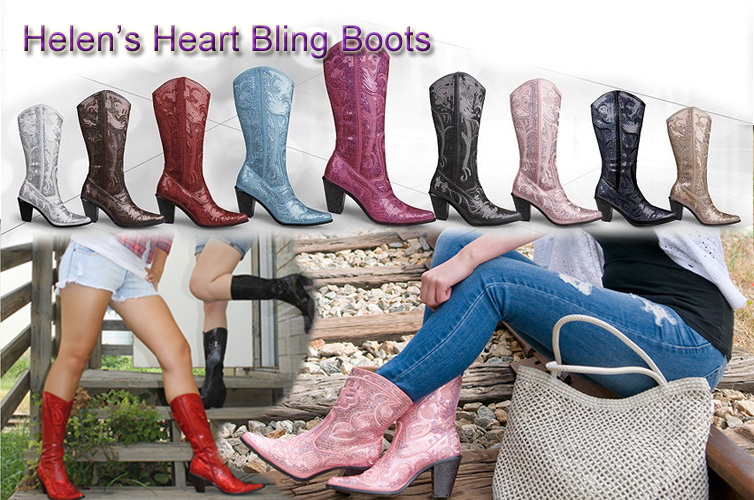 Shop Helens Heart Bling Boots style LB-0290
