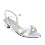 Coloriffics Womens Andie White Satin Sandals Wedding Shoes