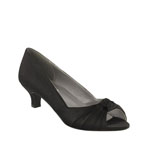Dyeables Womens Becky Black Satin Pumps Wedding Shoes