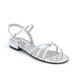 Dyeables Womens Palace Silver Metalllic Sandals Prom and Evening Shoes
