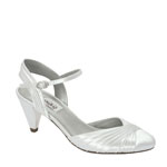 Dyeables Womens Alexis White Satin Pumps Wedding Shoes