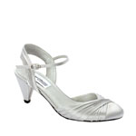 Dyeables Womens Alexis Silver Satin Pumps Wedding Shoes