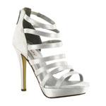 Dyeables Womens Lola White Satin Platforms Wedding Shoes