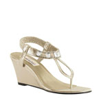 Dyeables Womens Mila Champagne Shimmer Synthetic Sandals Wedding Shoes