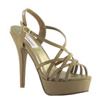 Dyeables Womens Cali Taupe PU Platforms Pageant Shoes