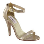 Dyeables Womens Faith Nude Metalllic Sandals Prom and Evening Shoes