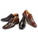 Giorgio Venturi Mens 5925 Navy Leather Oxford Dress Shoes