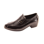Ditalo Mens 6264 Black Leather Oxford Dress Shoes