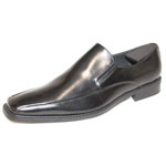 Giorgio Venturi Mens 6346 Black Leather Slip On Dress Shoes