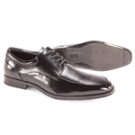 Giorgio Venturi Mens 6476 Black Leather Oxford Dress Shoes
