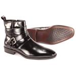 Giorgio Venturi Mens 6480 Black Leather Boots Dress Shoes