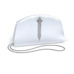 Dyeables Womens 718 White Satin   Wedding Handbags