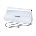 Dyeables Womens 737 White Satin   Wedding Handbags