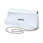Dyeables Womens 737 White Satin   Wedding Handbags