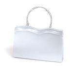 Dyeables Womens 770 White Satin   Wedding Handbags
