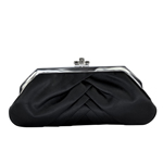 Touch Ups Womens Shiloh Black Satin   Wedding Handbags