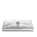 Touch Ups Womens Carson Silver Satin   Wedding Handbags