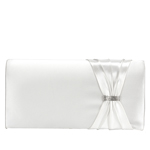 Touch Ups Womens Leona White Synthetic   Evening and Prom Handbags