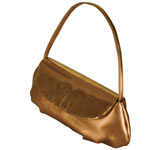 Touch Ups Womens Lori Bronze Synthetic   Evening and Prom Handbags