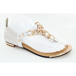 Helens Heart Womens CFW-1356 Silver Synthetic Sandals Casual Shoes