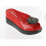 Helens Heart Womens CFW-8127-17 Red Beaded Sandals Casual Shoes