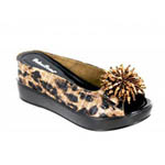 Helens Heart Womens CFW-8127-18 BrownLeopard Beaded Sandals Casual Shoes