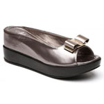 Helens Heart Womens CFW-8127-30 Grey Beaded Sandals Casual Shoes