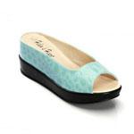 Helens Heart Womens CFW-8127-B7 Turquoise PU Wedge Casual Shoes