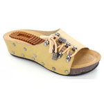 Helens Heart Womens CFW-B01 Tan Fabric Sandals Casual Shoes
