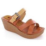 Helens Heart Womens CFW-B03 Brown Synthetic Sandals Casual Shoes
