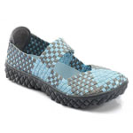 Helens Heart Womens CFW-S02 Blue Fabric Sneakers Casual Shoes
