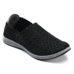 Helens Heart Womens CFW-S05 Black Fabric Sneakers Casual Shoes