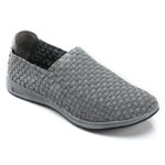 Helens Heart Womens CFW-S05 Grey Fabric Sneakers Casual Shoes