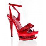 Helens Heart Womens FS-1501-108 Red Synthetic Platforms Prom and Evening Shoes