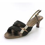Helens Heart Womens FS-2091-1 Bronze Synthetic Sandals Prom and Evening Shoes
