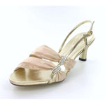 Helens Heart Womens FS-2091-1 Gold Synthetic Sandals Prom and Evening Shoes