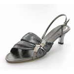 Helens Heart Womens FS-2091-1 Gun Metal Synthetic Sandals Prom and Evening Shoes