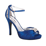 Helens Heart Womens FS-A8818-45 Blue Satin Sandals Prom and Evening Shoes