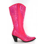 Helens Heart Womens LB-0290-10 Fuchsia Sequin Boots Casual Shoes