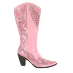 Helens Heart Womens LB-0290-10 Pink Sequin Boots Casual Shoes