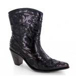Helens Heart Womens LB-0290-11 Black Sequin Boots Casual Shoes