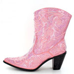 Helens Heart Womens LB-0290-11 Pink Sequin Boots Casual Shoes