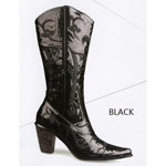 Helens Heart Womens LB-0290-12 Black Sequin Boots Casual Shoes