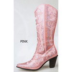 Helens Heart Womens LB-0290-12 Pink Sequin Boots Casual Shoes