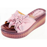 Helens Heart Womens cfw-l16 Pink Leather Sandals Casual Shoes