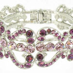 Jewelry by HH Womens JB-PD00337 purple Beaded   Bracelets Jewelry