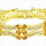 Jewelry by HH Womens JB-PD00338 topaz Beaded   Bracelets Jewelry