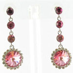 Jewelry by HH Womens JE-X001831 rose Beaded   Earrings Jewelry