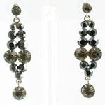 Jewelry by HH Womens JE-X001928 black diamond Beaded   Earrings Jewelry