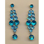 Jewelry by HH Womens JE-X001928 blue Beaded   Earrings Jewelry